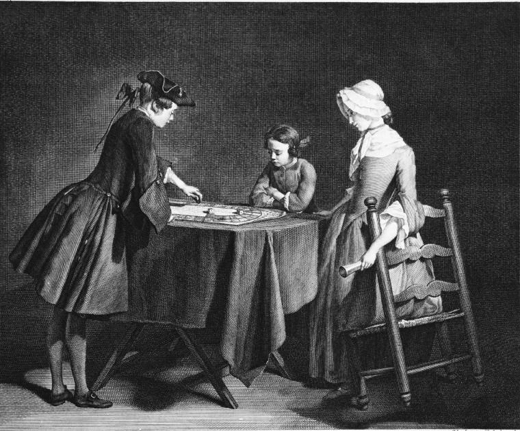 Pierre Louis Surugue: Das Gänsespiel (Le jeu de l'oye), 1745