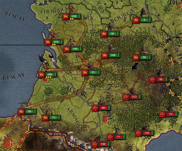 Wartezeit: Die Truppen werden zusammengezogen