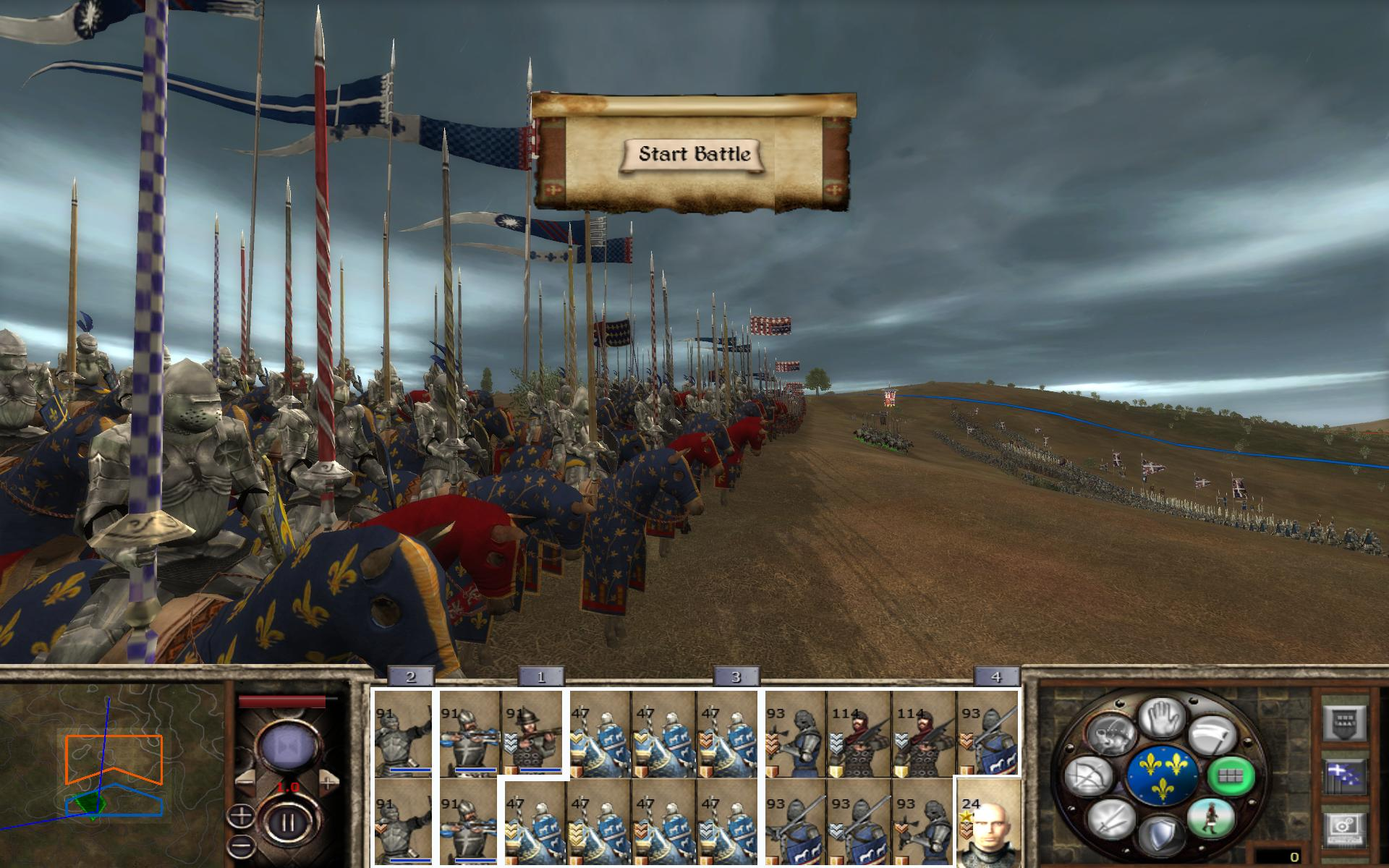 Die Schlachtvorbereitung in Medieval 2.