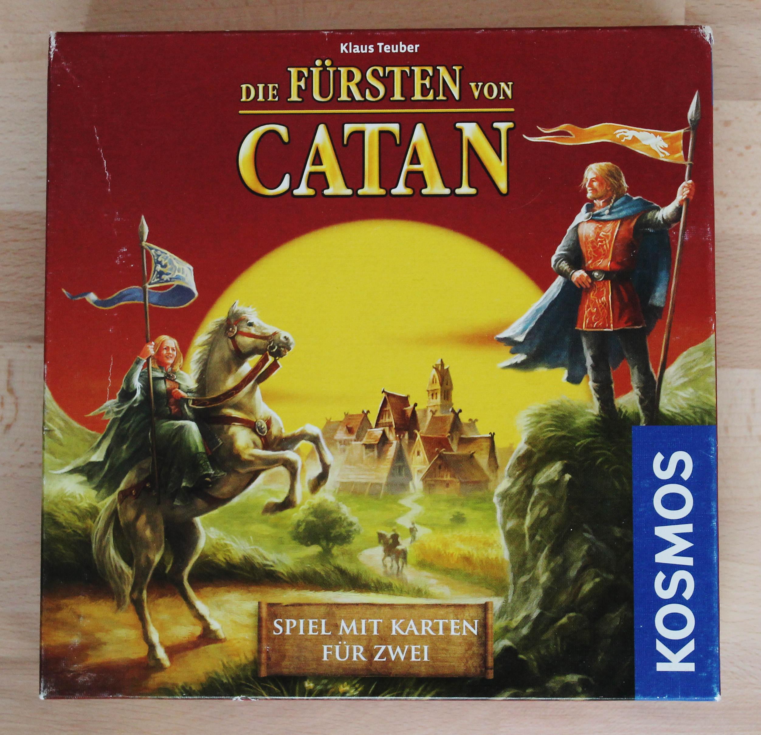 Abb.: Spielschachtel des Kartenspiels Die Fürsten von Catan (2010), einer veränderten Neuauflage des Kartenspiels von 1996. Quelle: Eigene Abb.