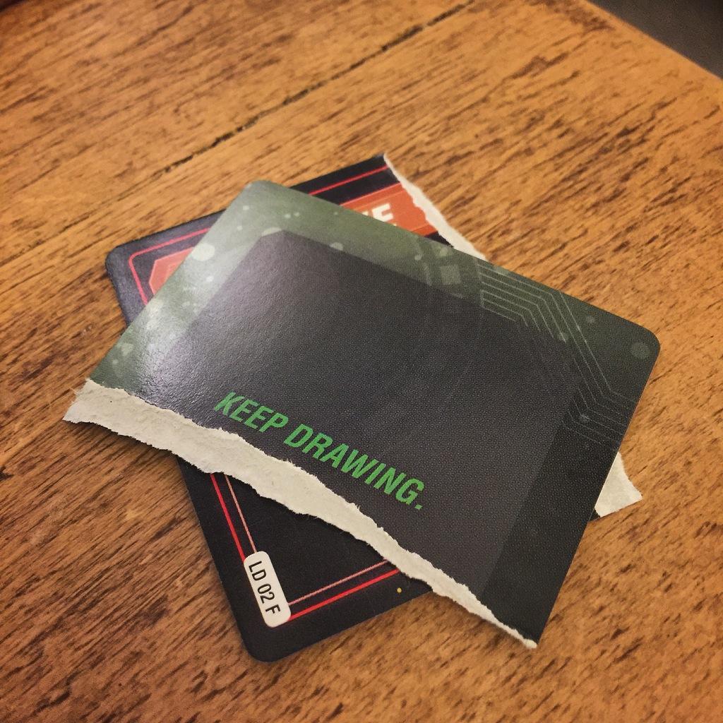 Abb.: Zerrissene Spielkarte aus Pandemic Legacy Season 1. Quelle: Eigene Abb.