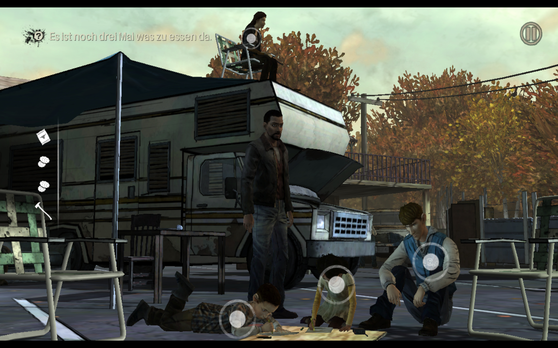 "Interaktionsmöglichkeiten in The Walking Dead (Screenshot aus ""The Walking Dead"" (2010))"