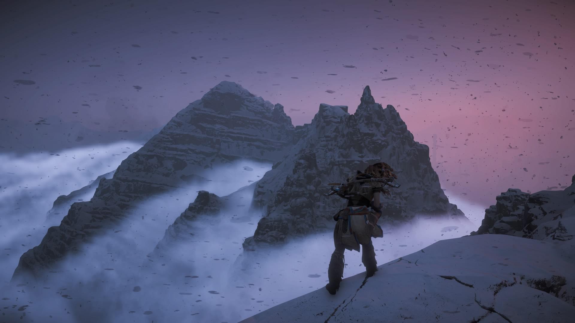 Die Abgeschiedenheit dieser von Schneesturm und Wolken umspielten Berggipfel erfüllt das Begehren nach 'unberührter' Umwelt.