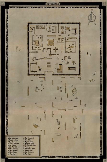 Die Karte der Ruinenstadt Antescher aus Ant Attack (1983)